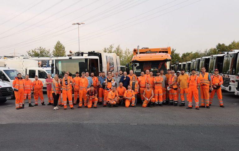 EBE sammelt mehr als 60 Tonnen Abfälle bei zusätzlicher Hochwasserhilfe – Unterstützung durch Entsorger aus Nachbarstädten